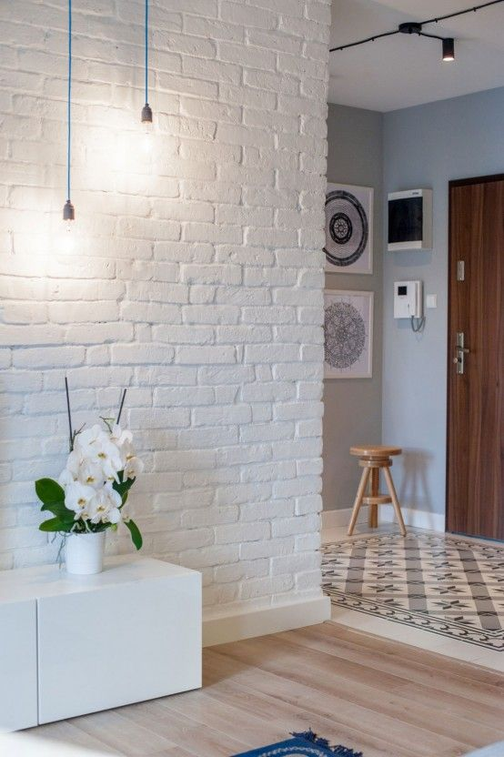 25 non boring white walls ideas for your home digsdigs for White exposed brick wall