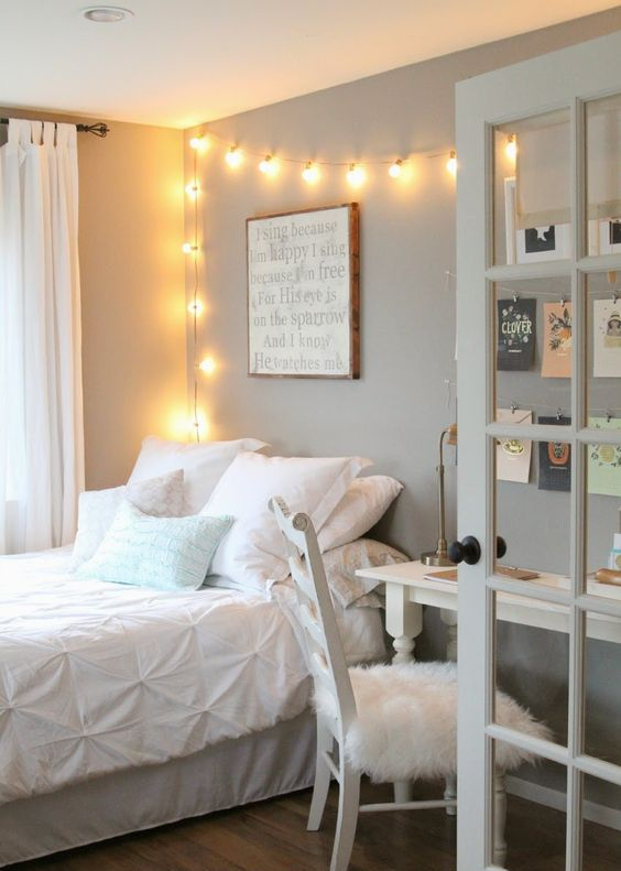 if you feel that there's not enough light, don't attach sconces, hang string lights