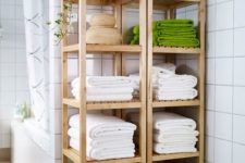 14 IKEA Molger shelving units can be used as nice open shelves if you have enough space for them