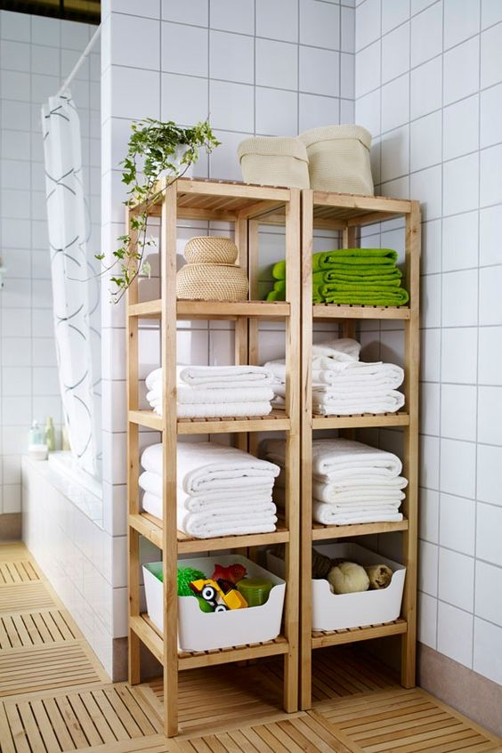 IKEA Molger shelving units can be used as nice open shelves if you have enough space for them