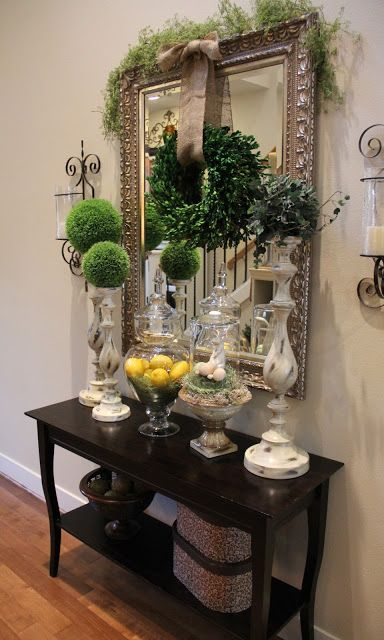 25 Fresh Spring Console Table Decor Ideas Digsdigs