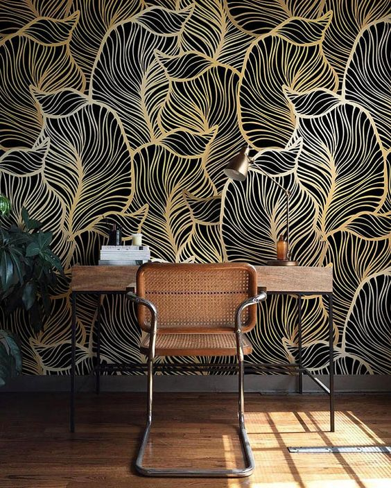transform your space into a unique one with fantastic wallpaper with a 3D effect
