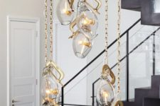 16 highlight the tall ceilings with such unique pendant lamps on chains