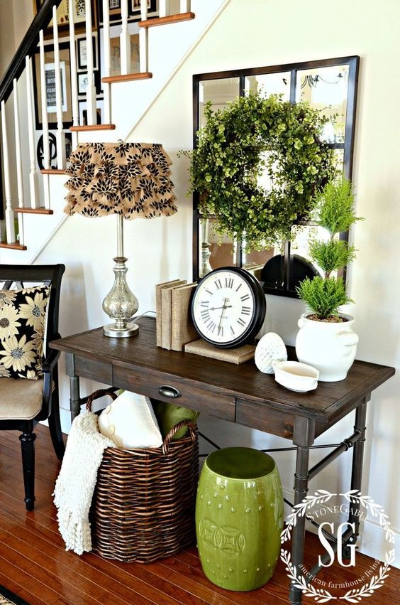 25 fresh spring console table decor ideas digsdigs for Cheap home decor canada
