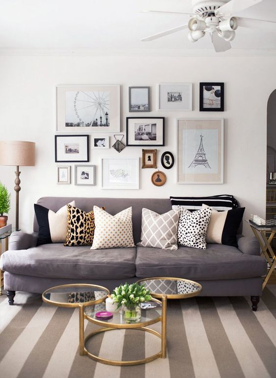 a vintage-inspired gallaery wall dedicated to travles is a chic idea