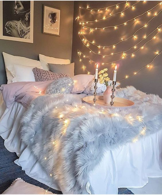27 Cool String Lights Ideas For Bedrooms