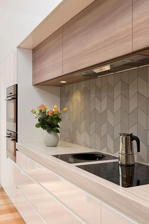 13-matte-grey-long-tiles-look-very-interesting-and-add-a-texture-to-the-space 5 Newest Kitchen Backsplash Trends To Go For