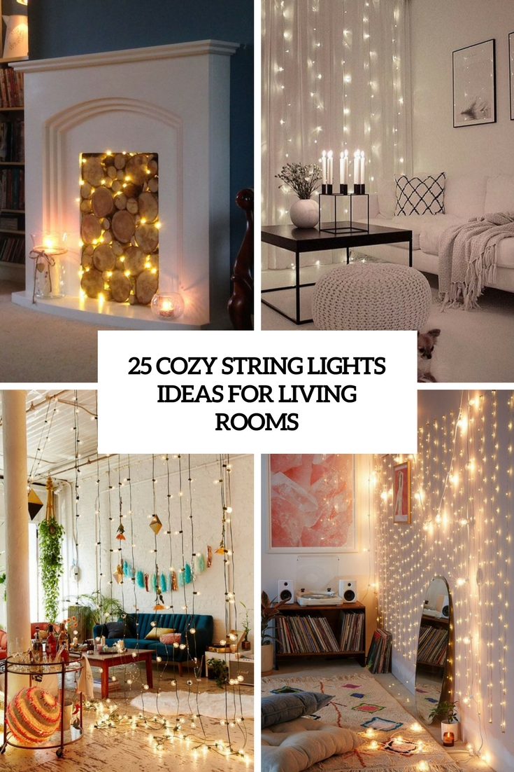 25 cozy string lights ideas for living rooms digsdigs rh digsdigs com fairy string lights living room Apartment Living Room Ideas