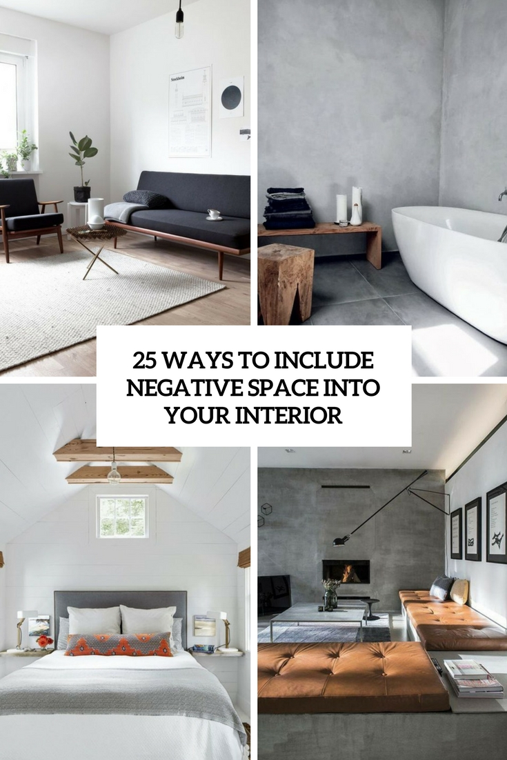 ways to include negative space into your interior cover