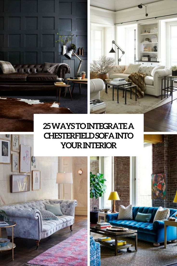 8 Ways To Integrate A Chesterfield Sofa Into Your Interior - DigsDigs