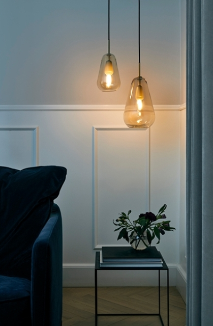 Anoli pendant lamps are inspired by the raindrops and harsh Scandinavian winters with just some sunlight