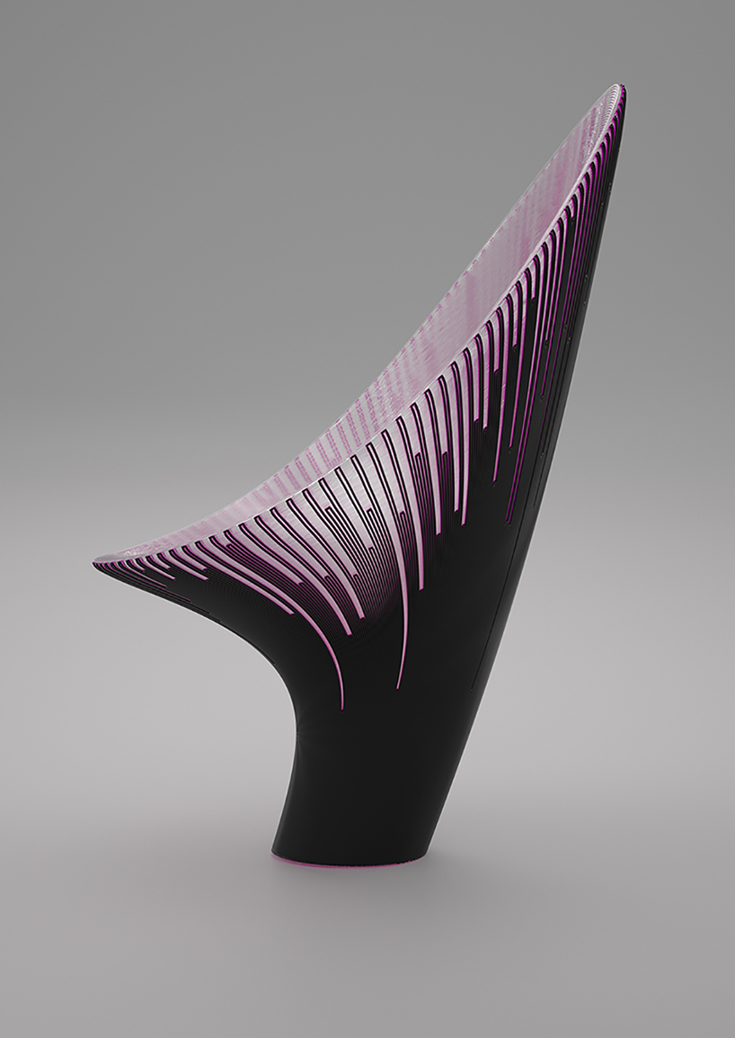 Bow Chair is a unique and bold piece in the shades of purple with a gorgeous statement design