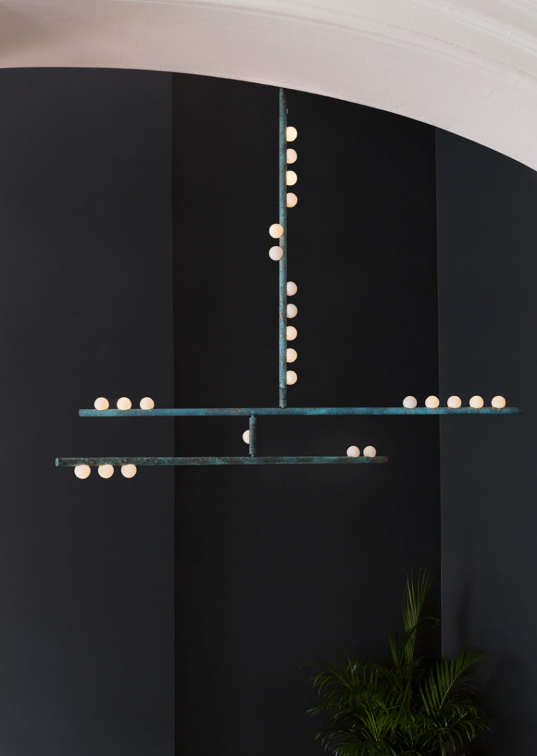 Drop lighting system was inspired by the sea level, sea weed and bubbles on the surface of the sea