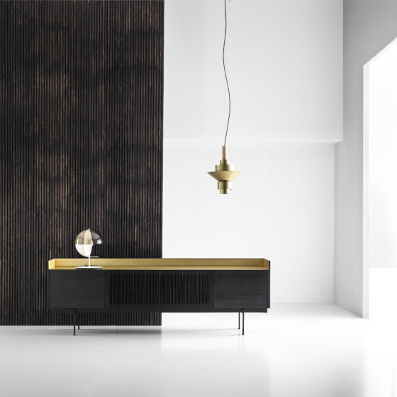 Stockholm Minimalist Furniture Collection With Metallic Finishes