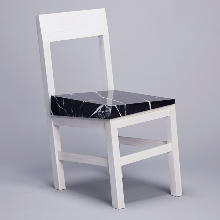The Slip chair is a funky piece that seems to be sinking into the ground