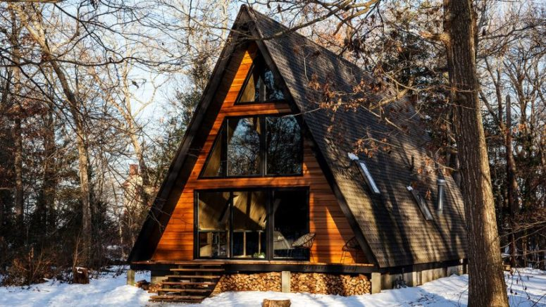 Renovated 1960s A-Frame House For Relaxing