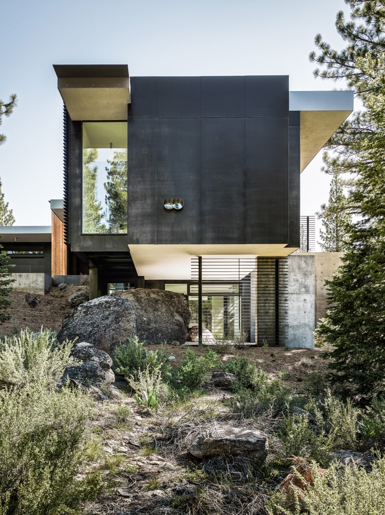 This California home is built on a site with a lot of boulders and they are all untouched
