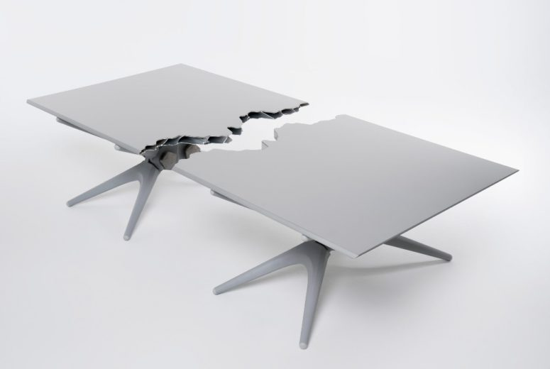 What's interesting, the table and bench can be used with two parts separately or together
