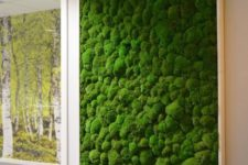 02 a framed moss wall will add freshness to the space, besides, it's easy to maintain