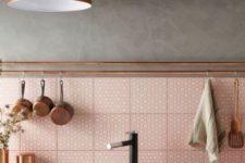 catchy tiled backsplash