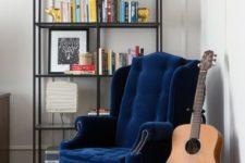 velvet chair as a statement piece