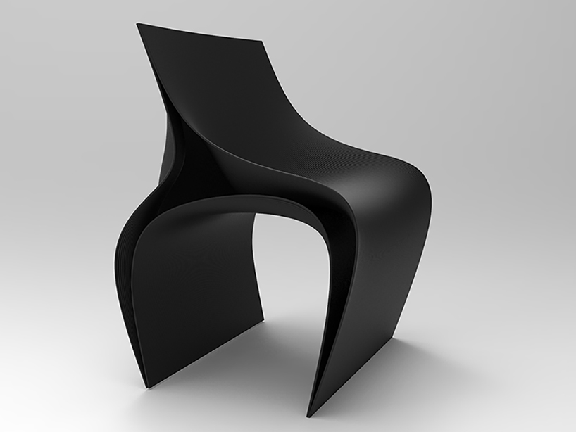Peeler chair perfectly considers the shapes and lines of a human body to be seated on it and looks futuristic