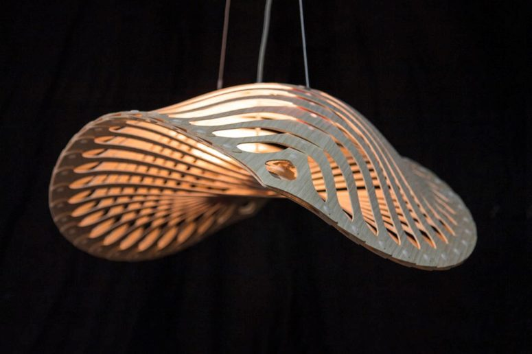 Such a lamp can be a nice fit for a living room, a bedroom or a dining space