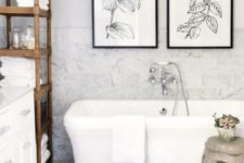 03 a couple of botanical artworks to fit a country chic bathroom
