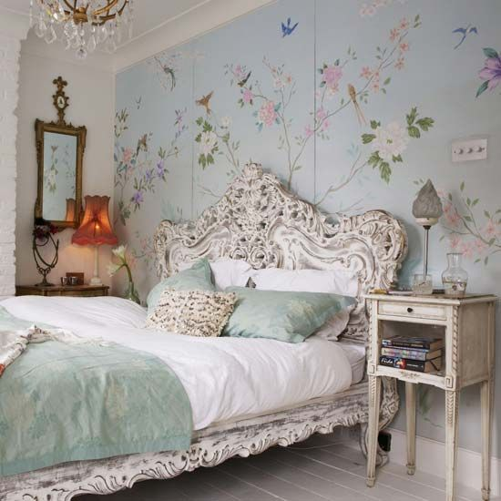 flora and fauna rpint wallpaper are amazing for a romantic space