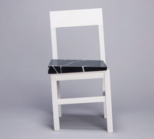 The chair is a cool and bold piece with a sculptural twist, it will catch an eye