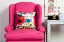 bold pink chair upholstery