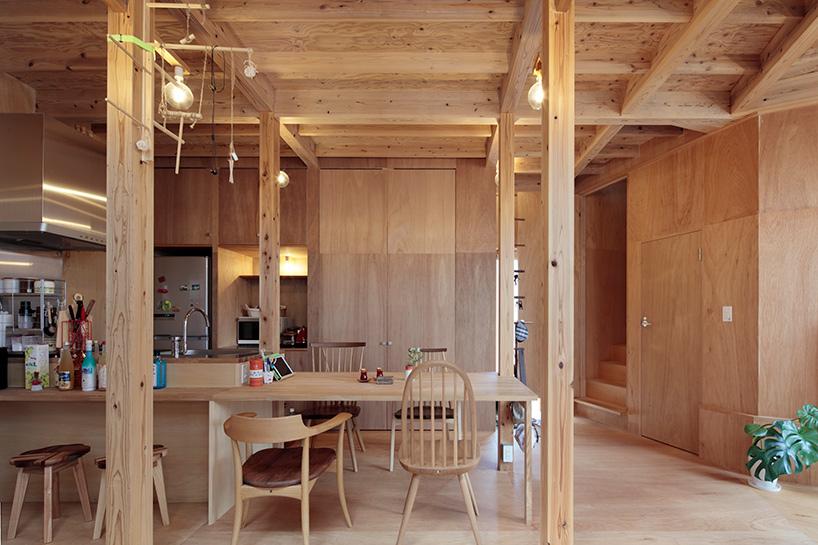 warm wood clad interior