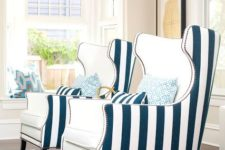 06 classic cream and vertical stripe chairs are a nice idea for a nautical interior