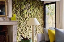 07 a moss wall is a chic and trendy feature in any room, it adds freshness to the space