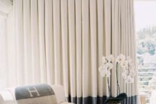 07 inverted pleat curtains with color blocking are sure to add visual interest to the space