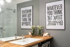 08 a modern black and white graphic artwork for a modern space with an industrial feel