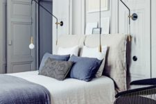 08 modern furniture and pendants plus edgy furniture and art in a vintage bedroom