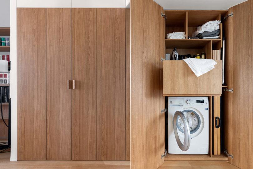 creatively hidden washing machine