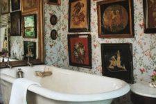 glam vintage mirror in a bathroom