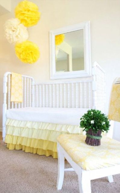 yellow in any amount will bring a touch of sunlight to the kids' room