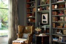 11 opt for a leather wingback chair for a fresh take and a textural look in your space