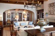 12 a vintage living room requires a wooden ceiling with beams for a chic look