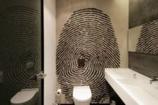 12 an oversized graphic fingerprint wall art is sure to add a personalized touch to the masculine space