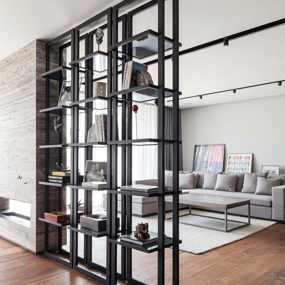Storage as a part of decor 25 inspiring ideas digsdigs - Open shelving living room ...