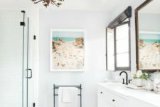 13 use your personal holiday photos to add a cheerful and relaxing feel to the bathroom