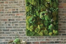 15 a textural moss wall art with various shapes for more eye-catchiness and bold look