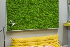 16 an oversized green moss wall art is a perfect fit for a modern living space