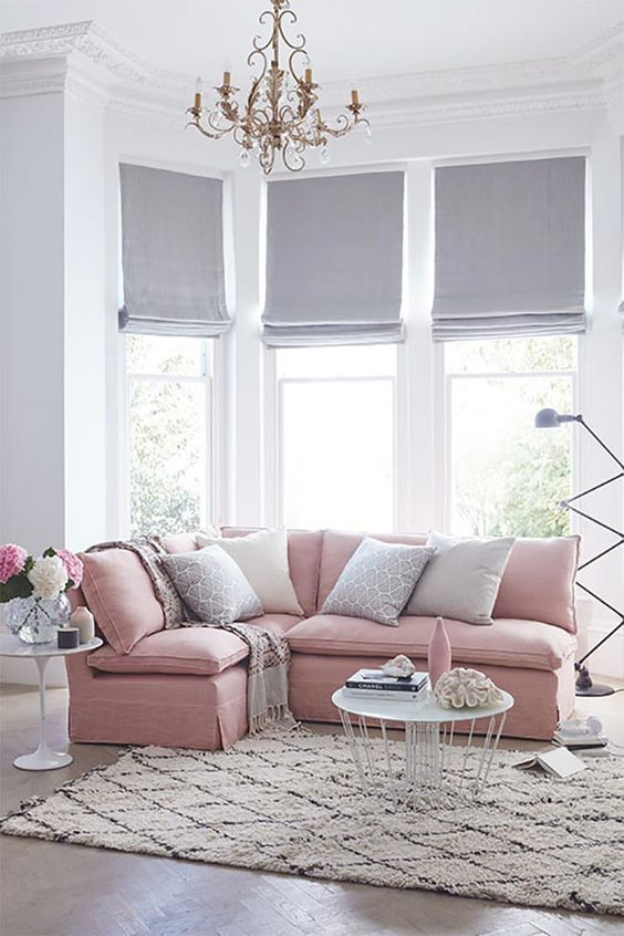 Light Grey Roman Shades Make The Room More Peaceful And Tranquil