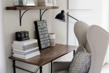 chair for a small home office nook