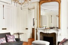 gorgeous antique mirror in a living room